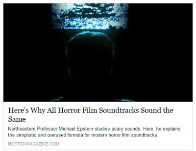 Michael J. Epstein interviewed by Boston Magazine on the science of scary sounds!