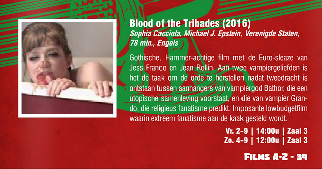 Blood of the Tribades at B Movie Underground in The Netherlands 9/2/16
