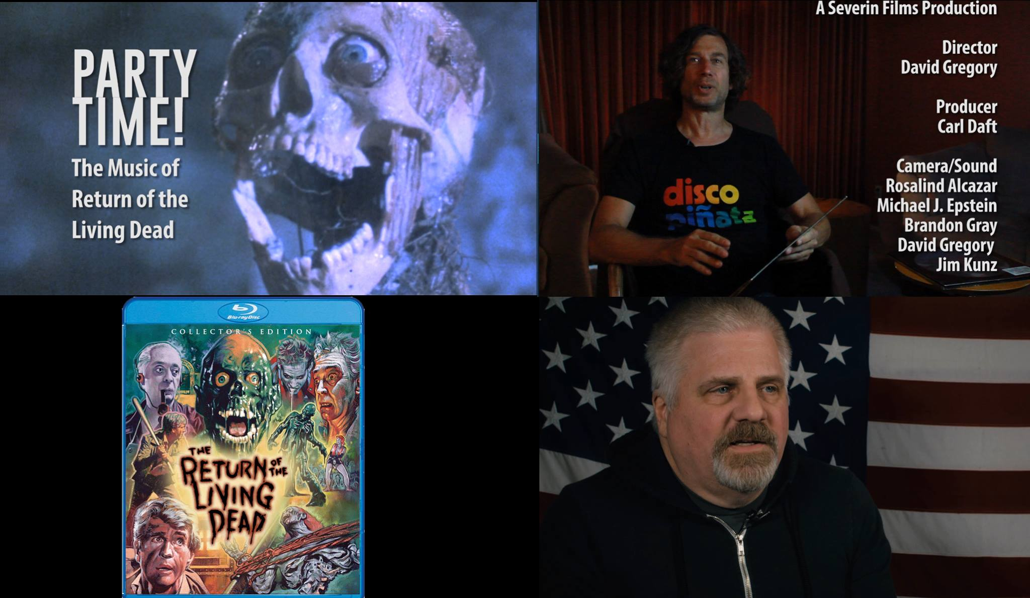 Sophia and Michael interview John Sox for The Return of the Living Dead blu ray bonus featurette