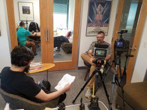 Michael interviewing David Hartman, Director of Phantasm: Ravager