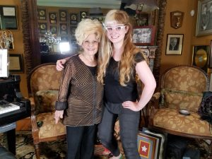 Cinematographer Sophia Cacciola with Brenda Lee post-interview