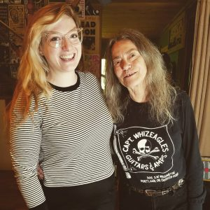 with Toody Cole for Women in Rock Oral History Project